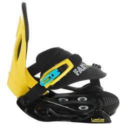 Snowboardbindingen voor kinderen Faky 100 zwart/geel/blauw