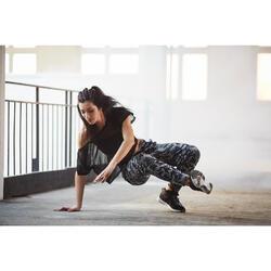 Sujetador-top tirantes finos danza mujer negro