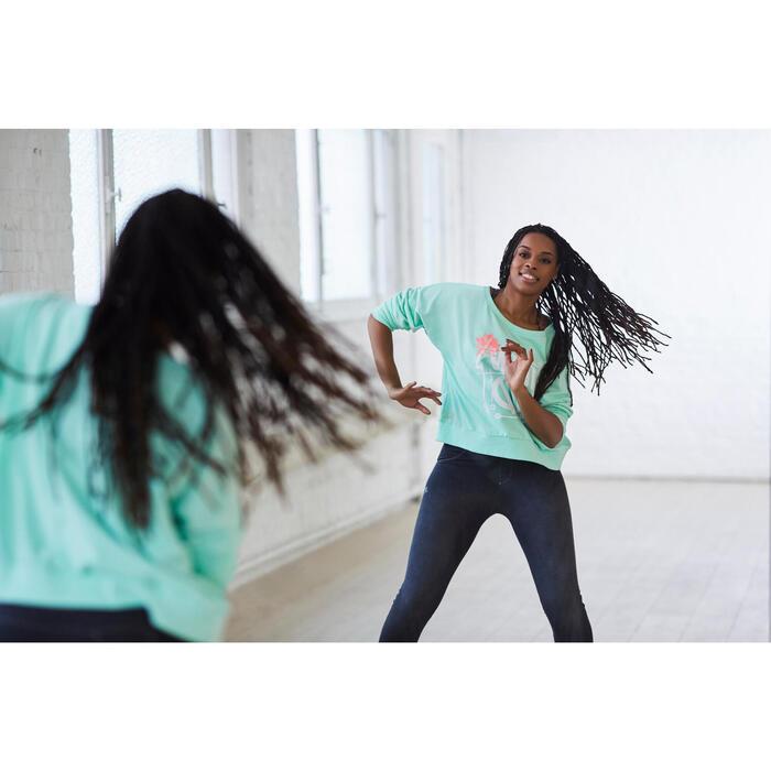 Sweat danse femme vert menthe. - 1203100