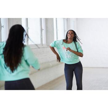 Sweat danse femme vert menthe.