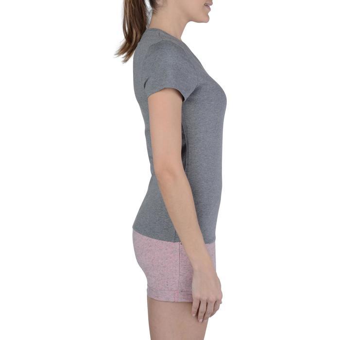 Dames T-shirt met korte mouwen voor gym en pilates gemêleerd - 1203173