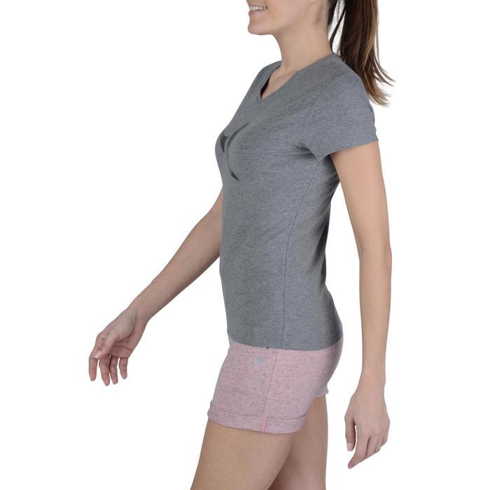 Dames T-shirt met korte mouwen voor gym en pilates gemêleerd - 1203203