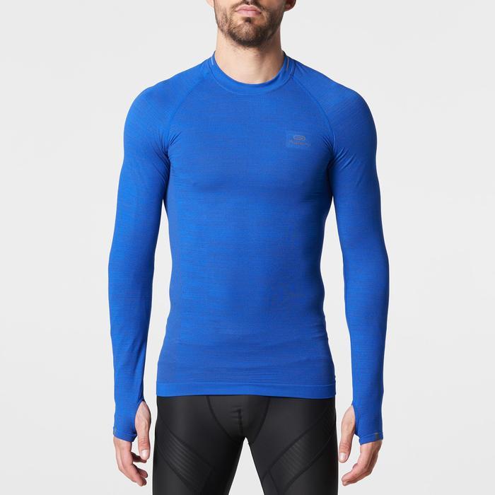Runningshirt met lange mouwen Kiprun skincare blauw