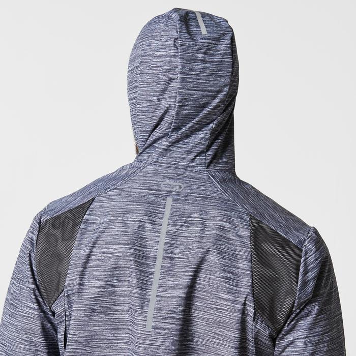 Laufjacke Run Rain Herren schwarz/grau