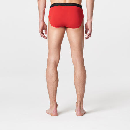Men's Breathable Running Briefs - Red