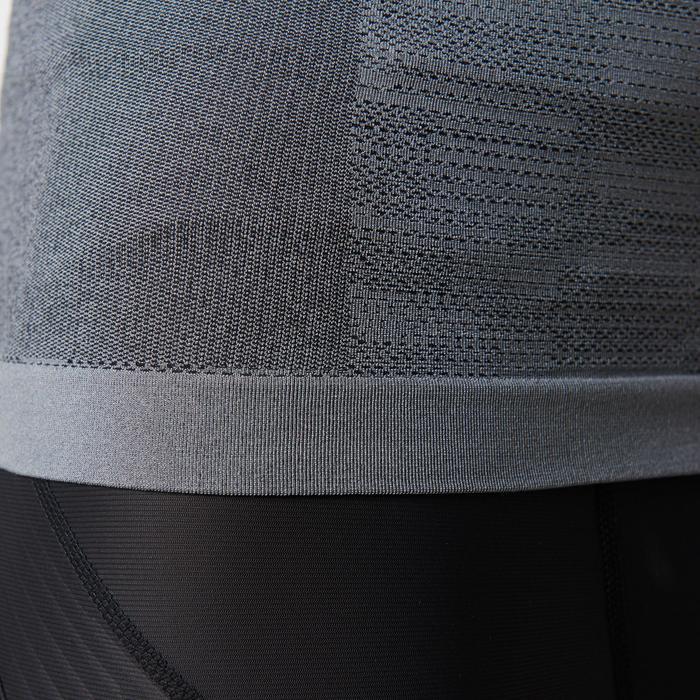 T-shirt lange mouwen Kiprun heren Skincare grijs