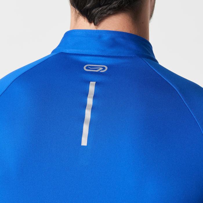 Loopshirt met lange mouwen Run Warm voor heren donkerblauw
