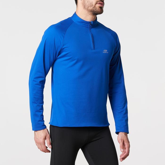 TEE SHIRT MANCHES LONGUES RUNNING HOMME RUN WARM Bleu F