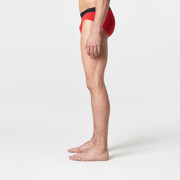 Ademende herenslip voor hardlopen rood