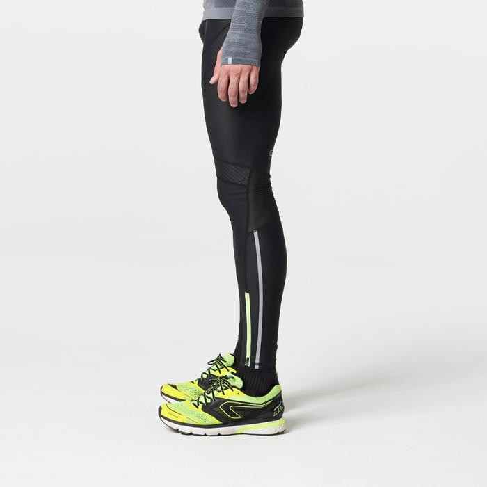 Laufhose lang Tights Kompression Kiprun Herren schwarz