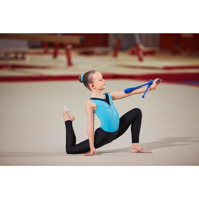 Gymnastikanzug Turnanzug Sequins ärmellos Kinder Pailletten türkis