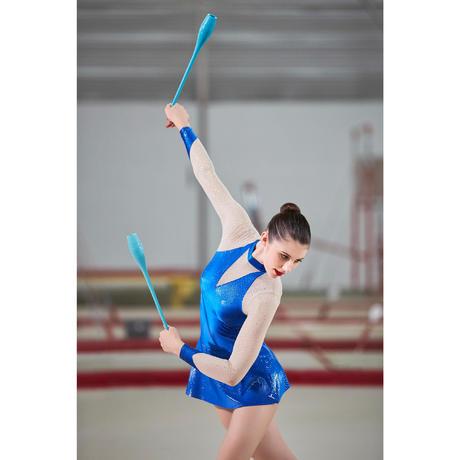 rhythmic gymnastics clubs 42cm  turquoise  domyos
