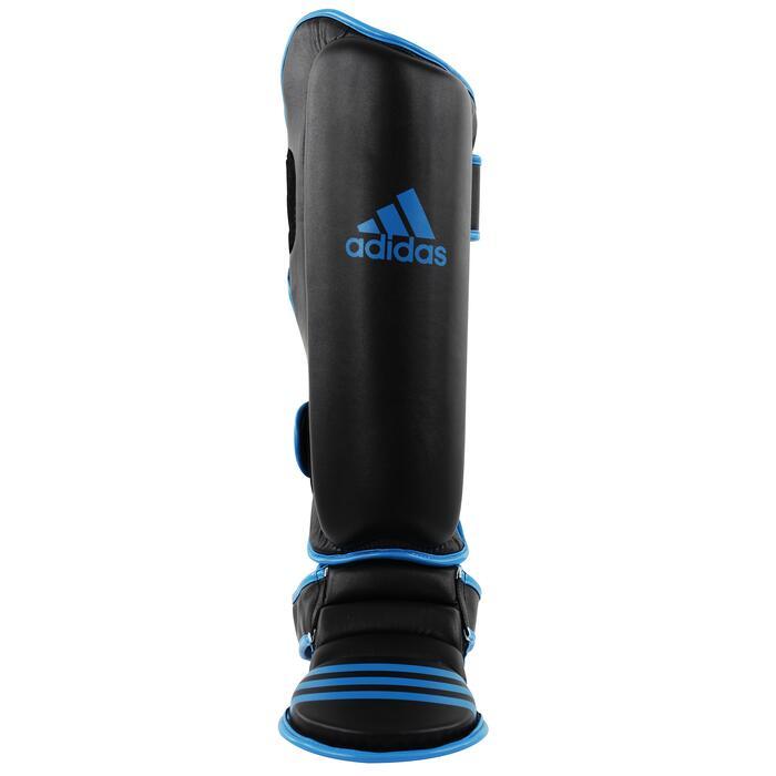 Scheen- en voetbeschermer zwart/blauw