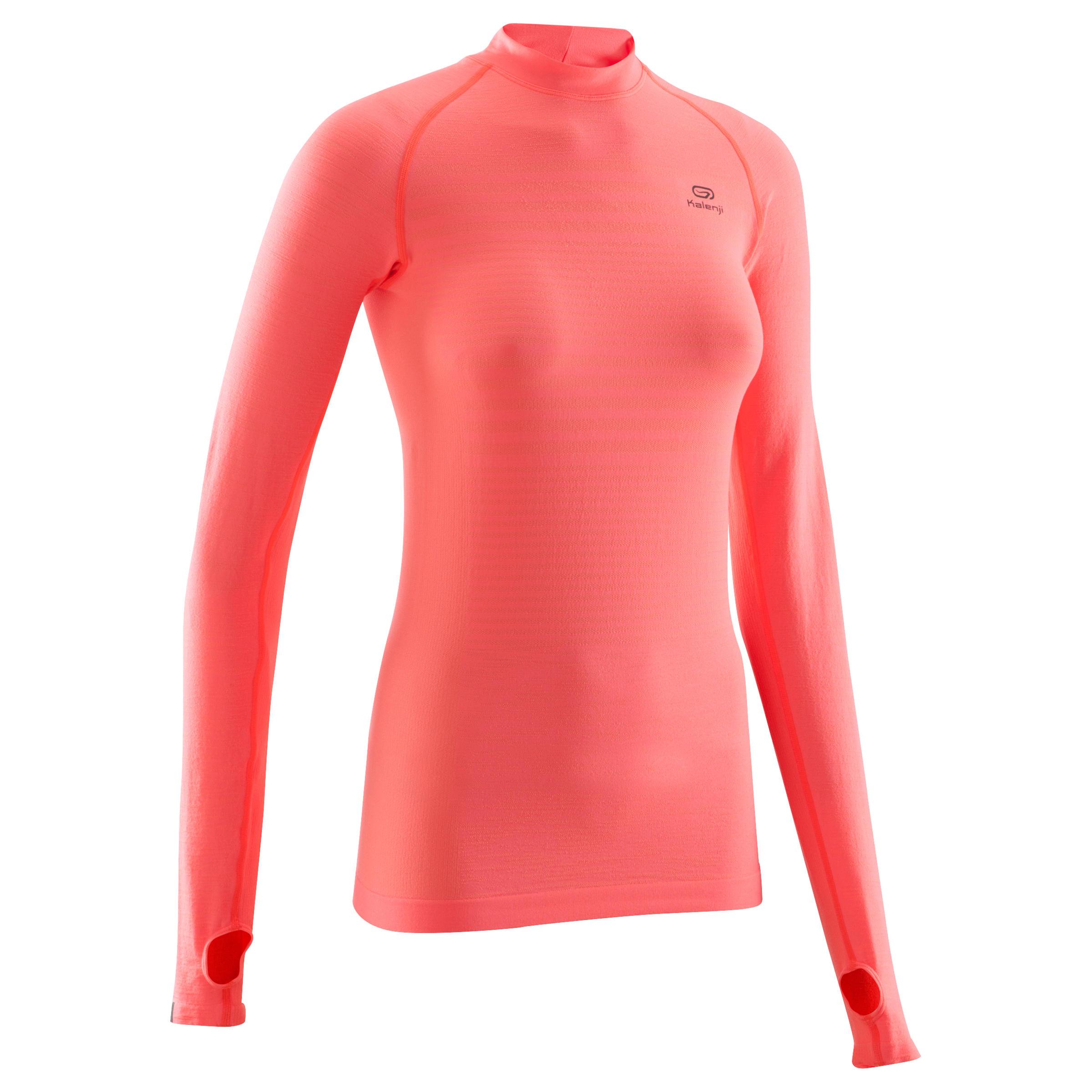 Kiprun Longues Running Tee Kalenji Corail Manches Care Femme Shirt 4Ajq53LR