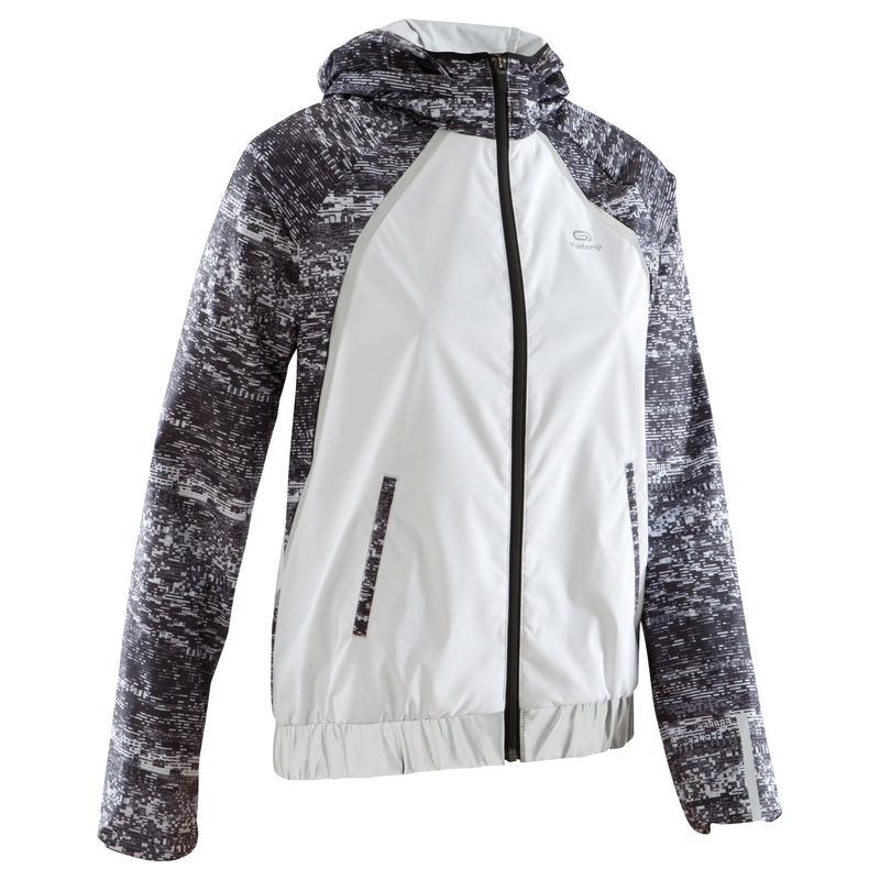 veste de pluie jogging femme course sous la pluie soir blanche. Black Bedroom Furniture Sets. Home Design Ideas