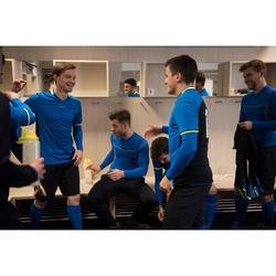 Camiseta térmica de fútbol manga larga adulto Keepdry 500 azul eléctrico