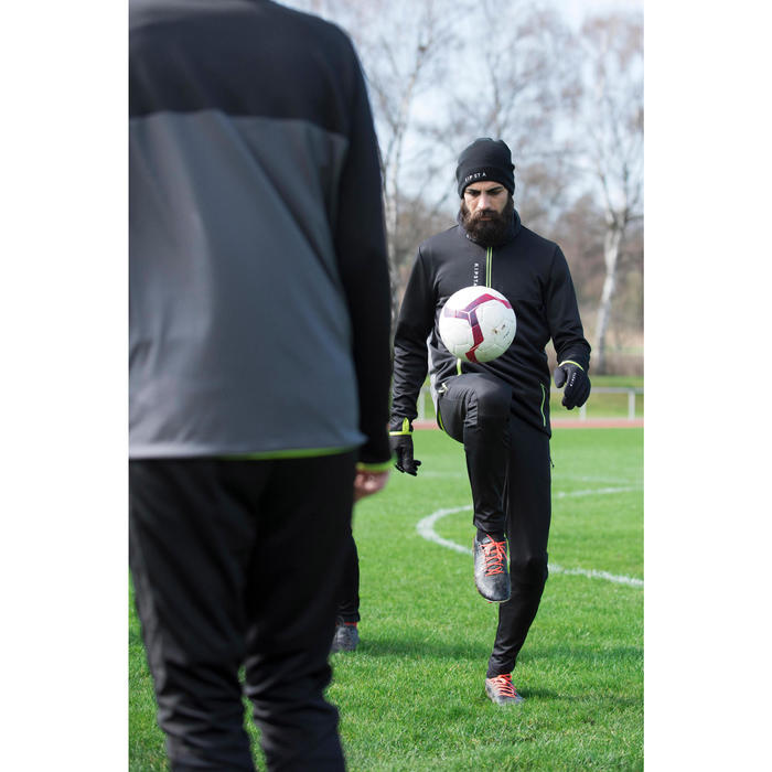 Voetbalhandschoenen Keepdry 500 warm volwassenen zwart