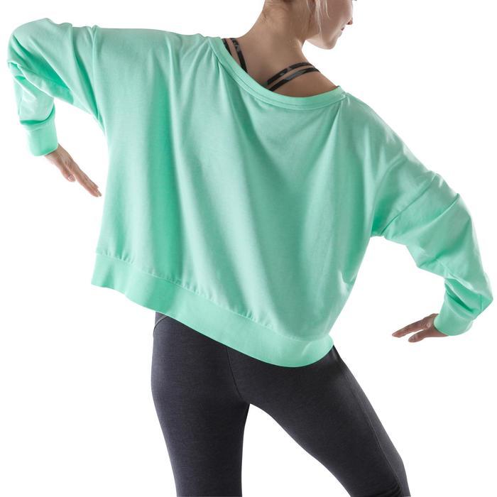 Sweat danse femme vert menthe. - 1203980