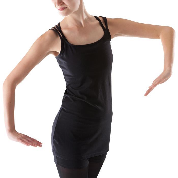 Tunique de danse à fines bretelles danse femme noire