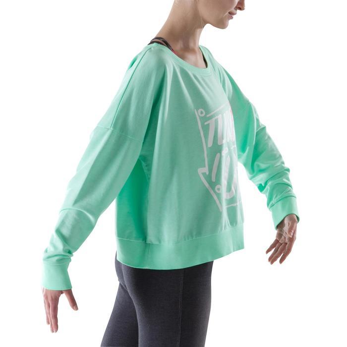 Sweat danse femme vert menthe. - 1203994