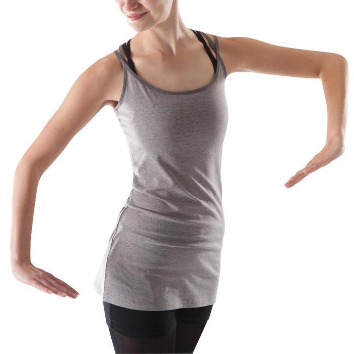 Tunique de danse à fines bretelles danse femme noire - 1204001