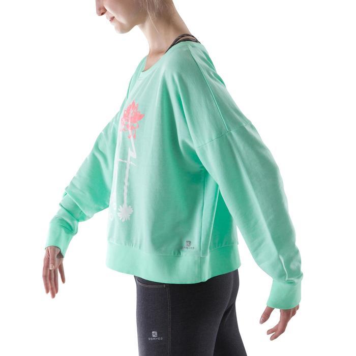 Sweat danse femme vert menthe. - 1204020