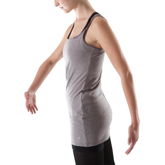 Tunique de danse à fines bretelles danse femme noire - 1204023