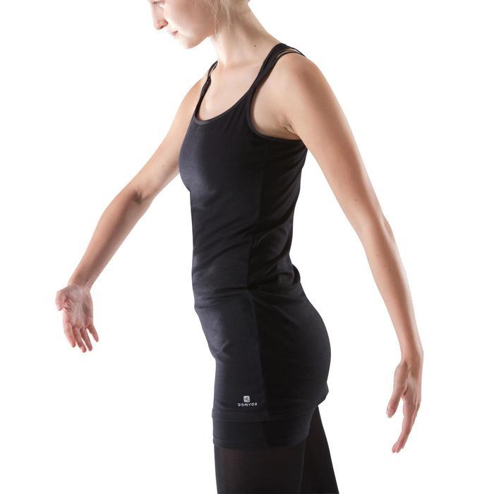 Tunique de danse à fines bretelles danse femme noire - 1204025