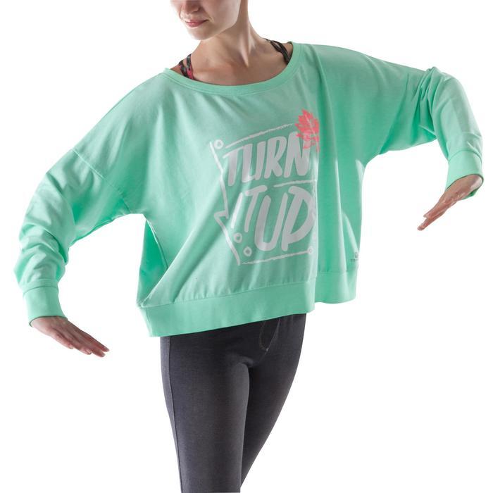 Sweat danse femme vert menthe. - 1204027