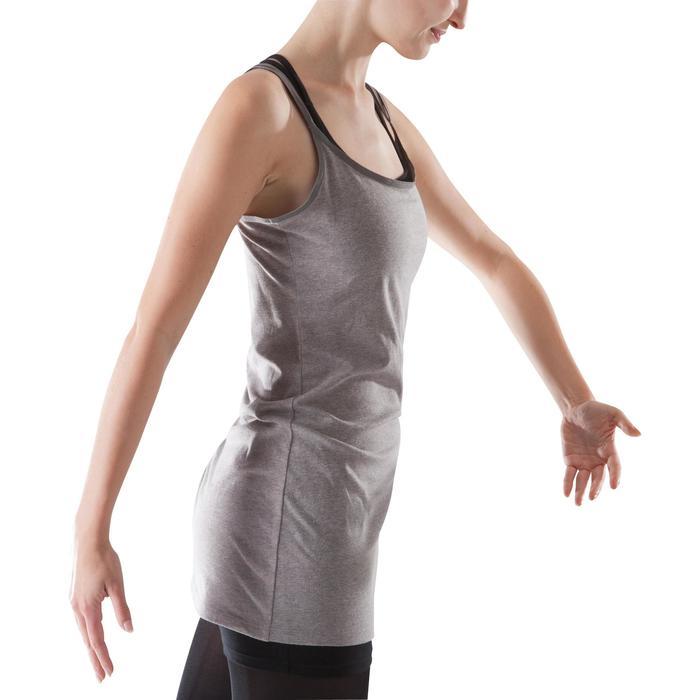 Tunique de danse à fines bretelles danse femme noire - 1204030