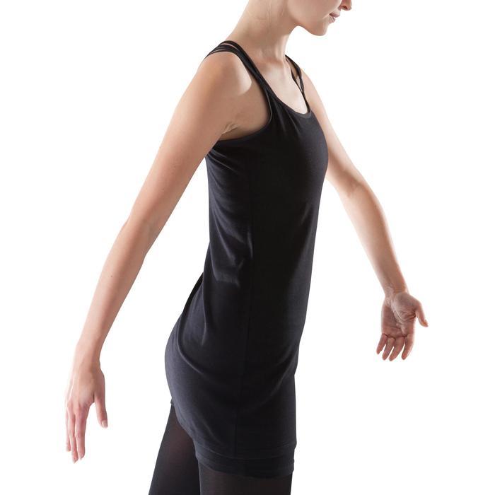 Tunique de danse à fines bretelles danse femme noire - 1204044