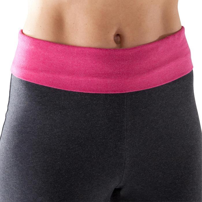 Damesshort voor zachte yoga biokatoen grijs roze