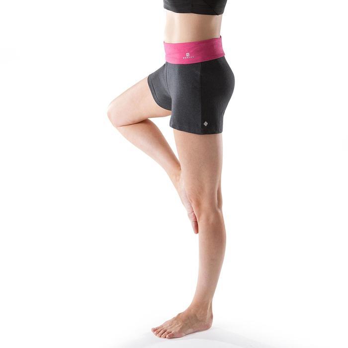Short yoga doux femme coton issu de l'agriculture biologique Gris Rose