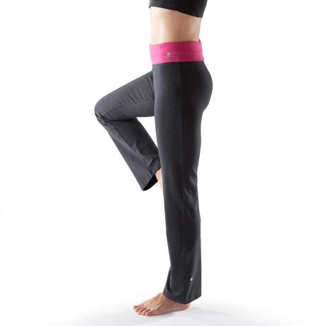 Pantalon Yoga Femme Coton Issu De L Agriculture Biologique Gris