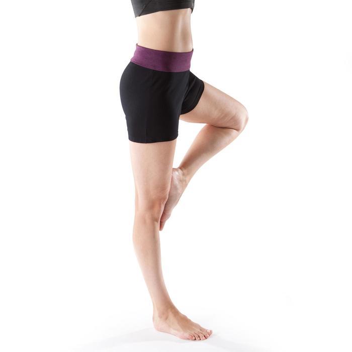 Short yoga doux femme coton issu de l'agriculture biologique - 1204066