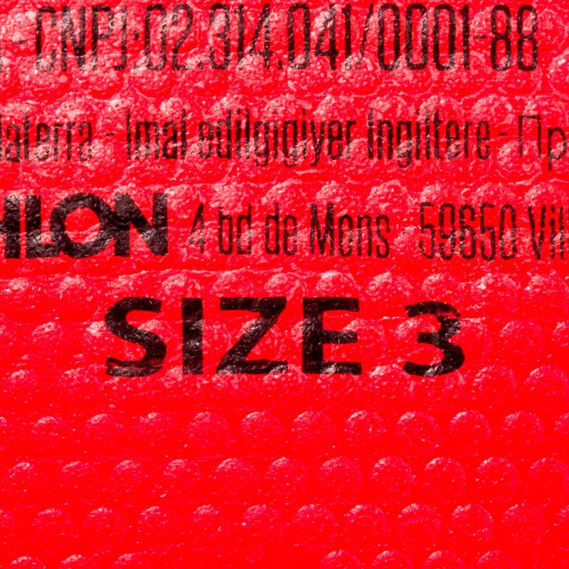 Balón de rugby de espuma Wizzy talla 3 rojo