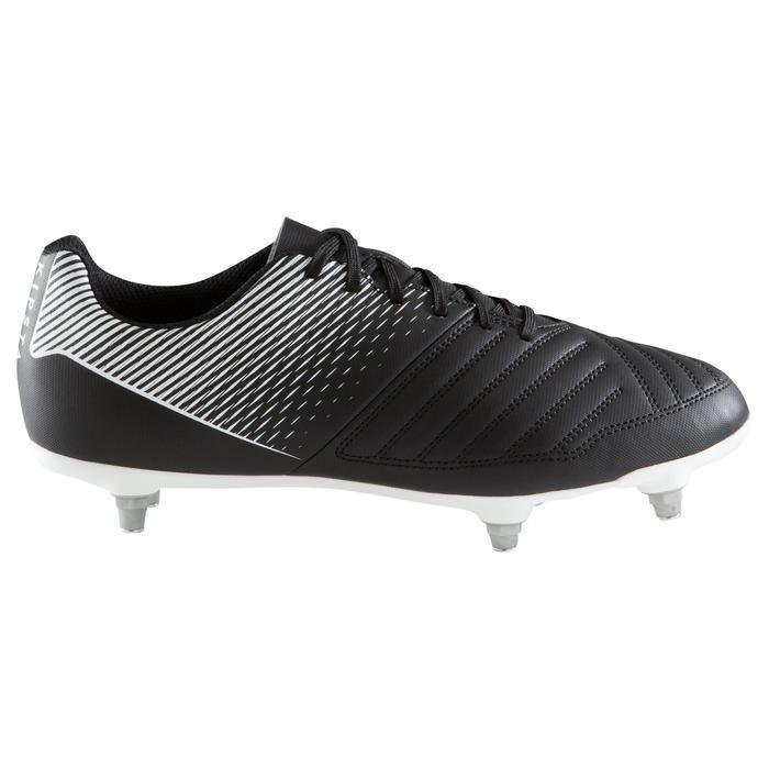 Chaussure de football adulte terrains gras Agility 100 SG noire blanche - 1204231