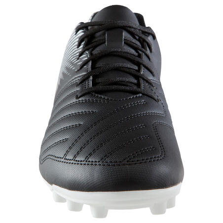 Cleats Soccer Agility 100 FG Adult Dry Fields - Black