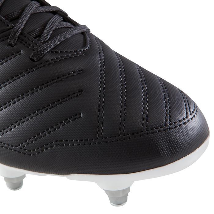 Chaussure de football adulte terrains gras Agility 100 SG noire blanche - 1204246