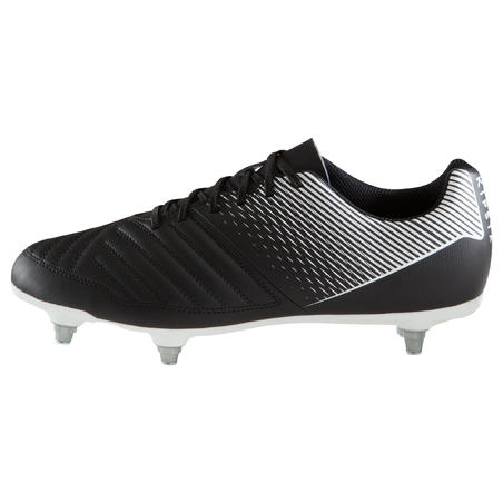 Agility 100 SG Adult Soft Ground Soccer Cleats - Black/White