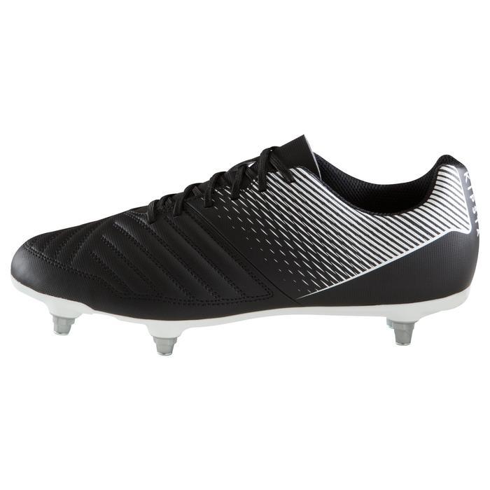 Chaussure de football adulte terrains gras Agility 100 SG noire blanche - 1204263