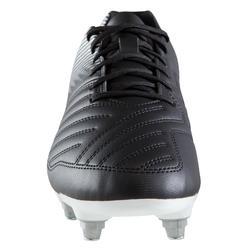 Botas de Fútbol adulto Kipsta Agility 100 SG negro y blanco