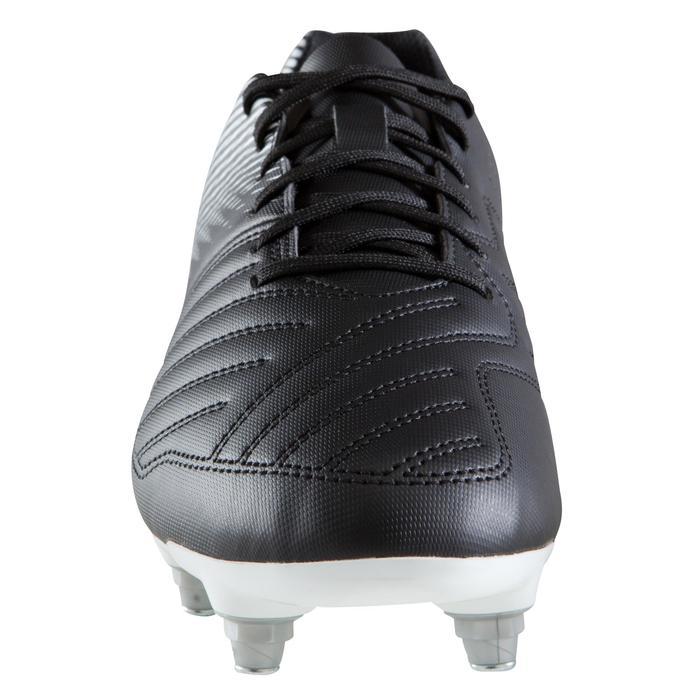Chaussure de football adulte terrains gras Agility 100 SG noire blanche - 1204280