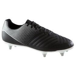 Fußballschuhe Stollen Agility 100 SG weiche Böden Erwachsene schwarz/weiß