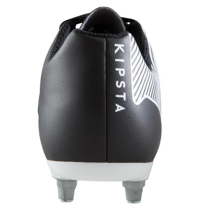 Botas de fútbol adulto terrenos resbaladizos Agility 100 SG negro/blanco