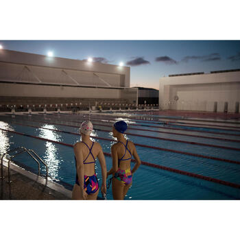 Maillot de bain natation une pièce ultra résistant au chlore femme Jade - 1204379