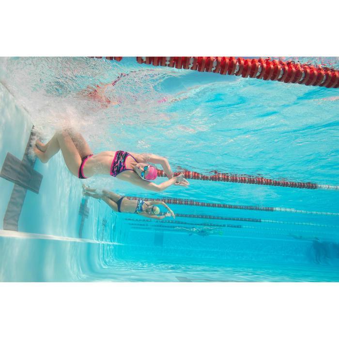 Zwemtop voor dames chloorvast Jade digi blauw