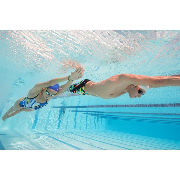 Maillot de bain de natation une pièce femme résistant au chlore Lidia bleu navy - 1204394