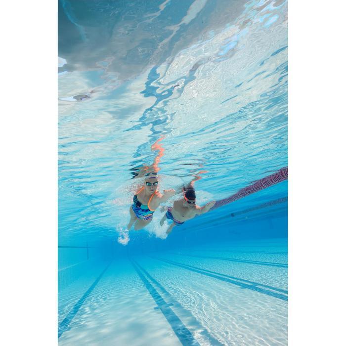 Maillot de bain de natation une pièce femme résistant au chlore Lidia bleu navy - 1204397