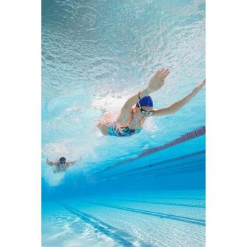 Maillot de bain de natation une pièce femme résistant au chlore Lidia bleu navy - 1204398